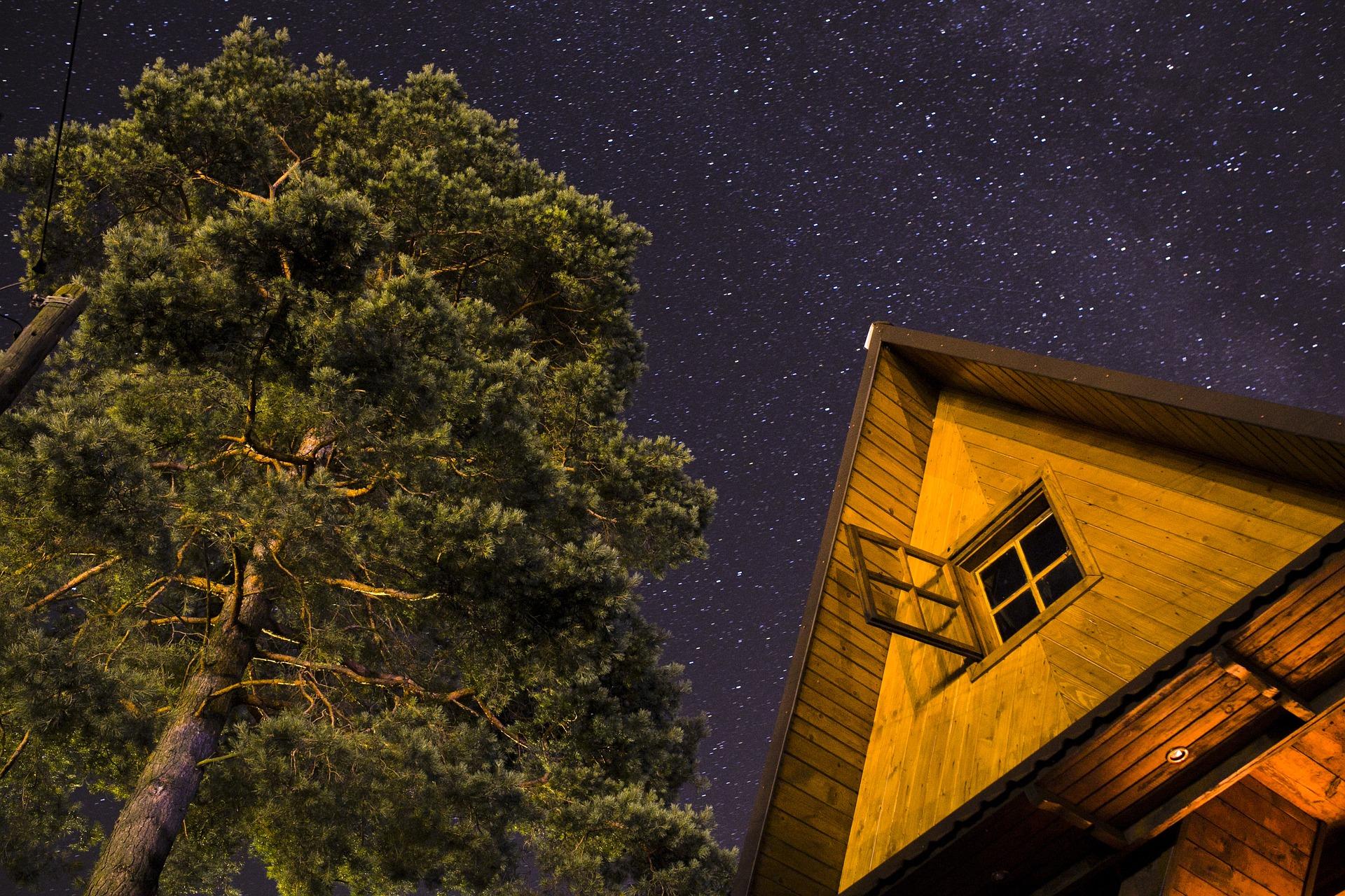 Drewniany szwajcarski domek